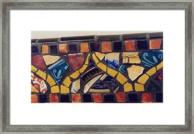 Mosaic Table Top Framed Print by Charles Lucas