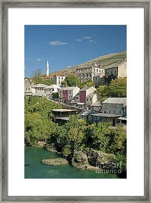 Mostar In Bosnia Herzegovina Framed Print