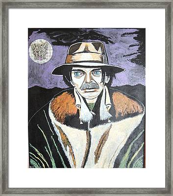 Mushrooms With Captain Beefheart. Framed Print by Ken Zabel