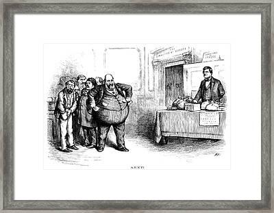 Nast Tweed Ring Cartoon Framed Print by Granger