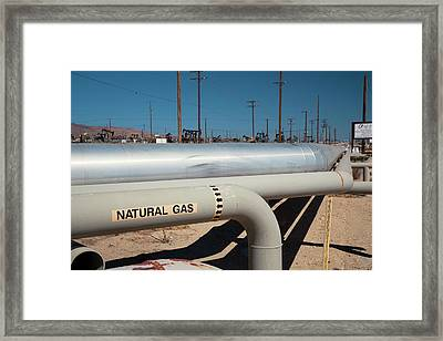 Natural Gas Pipelines Framed Print by Jim West
