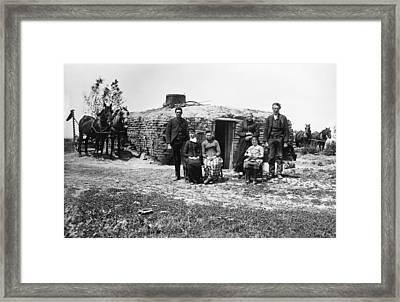 Nebraska Settlers, 1887 Framed Print by Granger
