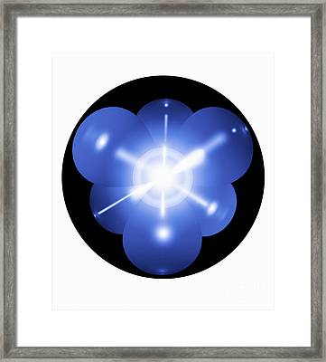 Neon Atom, Artwork Framed Print