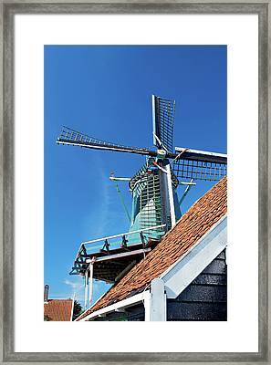 Netherlands, North Holland, Zaanstad Framed Print