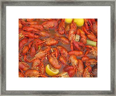 New Orleans French Quarter Cajun Food Seafood By Art504 Framed Print