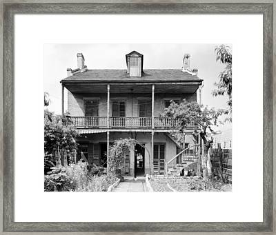 Framed Print featuring the photograph New Orleans House by Granger