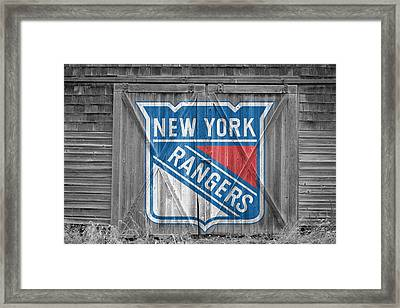 New York Rangers Framed Print