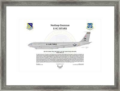 Northrop Grumman E-8c Jstars Framed Print by Arthur Eggers
