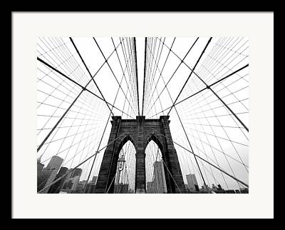 Brooklyn Bridge Framed Prints