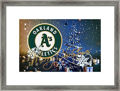 Oakland A's Framed Print by Joe Hamilton