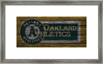 Oakland Athletics Framed Print by Joe Hamilton