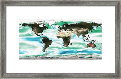 Ocean-atmosphere Co2 Exchange Framed Print