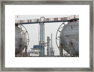 Oil Field In Daqing Framed Print by Ashley Cooper