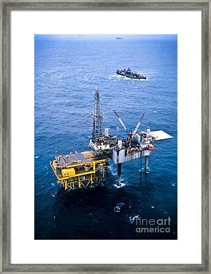 Oil Platform Framed Print