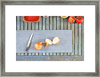 Onions Framed Print by Tom Gowanlock