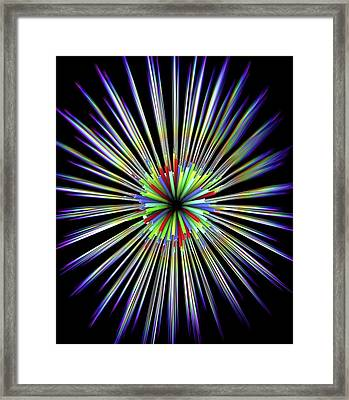 Optical Fibre Cable Framed Print