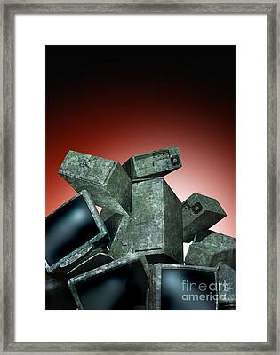 Outdated Computer Equipment, Artwork Framed Print by Victor Habbick Visions