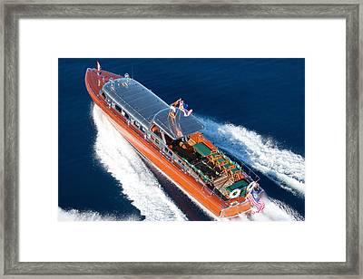 Overhead Thunderbird Framed Print by Steven Lapkin