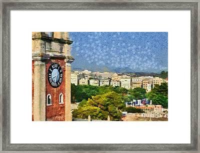Old City Of Corfu Framed Print by George Atsametakis