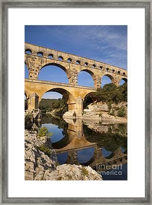 Pont Du Gard Framed Print by Brian Jannsen