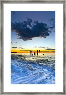 Port Willunga Sunset Framed Print by Bill  Robinson