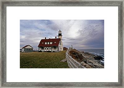 Portland Head Lighthouse Framed Print by Skip Willits