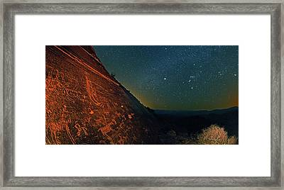 Prehistoric Rock Art Framed Print by Babak Tafreshi