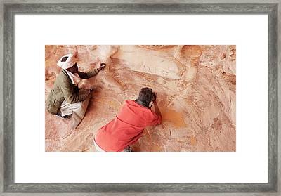 Prehistoric Rock Paintings Framed Print