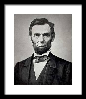 President Lincoln Framed Prints