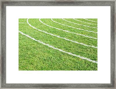 Racing Track Framed Print