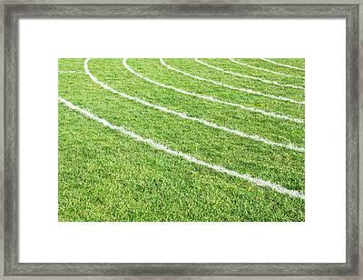 Racing Track Framed Print by Tom Gowanlock