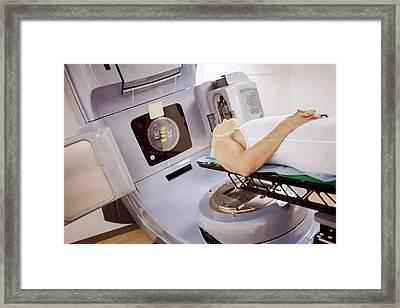 Radiotherapy Treatment Framed Print by Thomas Fredberg