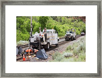 Railway Track Maintenance Framed Print by Jim West