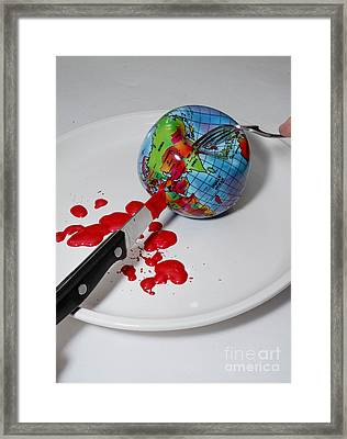 Reflected Globe Framed Print by Amy Cicconi