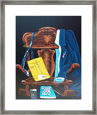 Retiring Postal Worker Framed Print