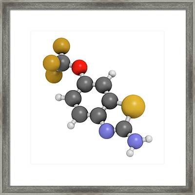 Riluzole Als Drug Molecule Framed Print by Molekuul