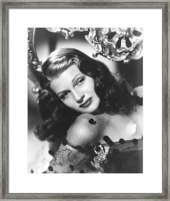 Rita Hayworth, Columbia Portrait Framed Print