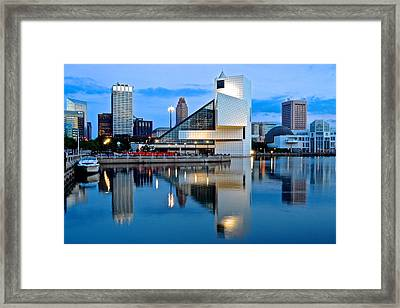 Rock And Roll Hall Of Fame Framed Print by Frozen in Time Fine Art Photography