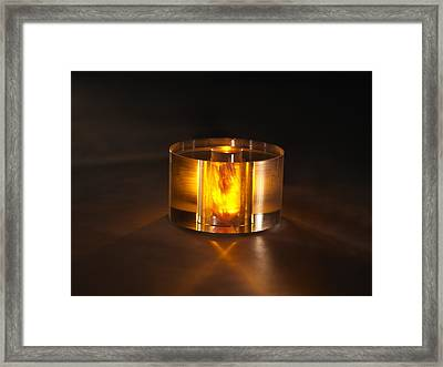 Room-temperature Solid-state Maser Core Framed Print by Science Photo Library