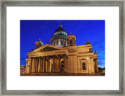 Russia, Saint Petersburg, Center, Saint Framed Print by Walter Bibikow