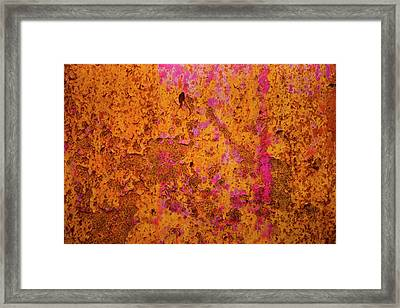 Rust And Metal Series Framed Print by Mark Weaver