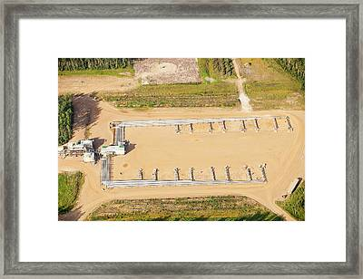 Sag D Tar Sands Plant Framed Print by Ashley Cooper