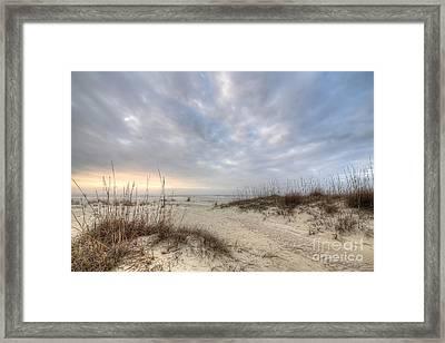 Salinas Park Beach On Cape San Blas Framed Print by Twenty Two North Photography