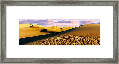 Sand Dunes In A Desert, Great Sand Framed Print