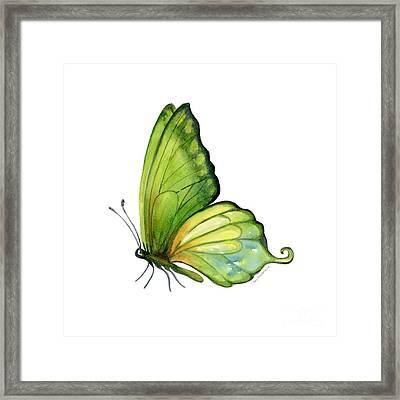 5 Sap Green Butterfly Framed Print
