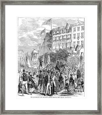 Schutzenfest, 1868 Framed Print