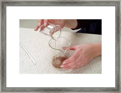 Separating Salt From Rock Salt Framed Print by Trevor Clifford Photography