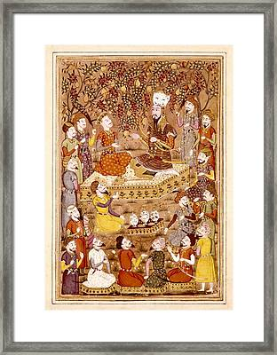 Shahnameh. The Book Of Kings. 16th C Framed Print