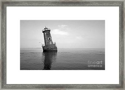 Sharps Island Lighthouse Framed Print by Skip Willits