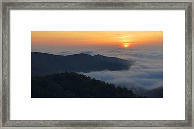 Shenandoah Sunrise Framed Print by Stephen  Vecchiotti